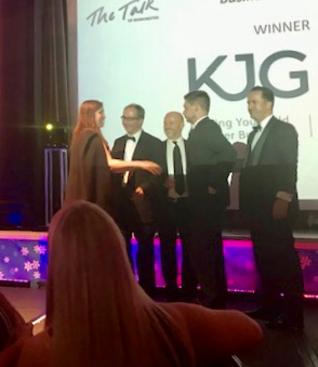 Talk of Manchester Business Awards 2019. CEO, Colette Hamilton presents Best Digital Agency and Best Business Awards at the Talk of Manchester Business Awards on Thursday 6th December to a huge turn out.  #theTOMs supporting Kidscan charity